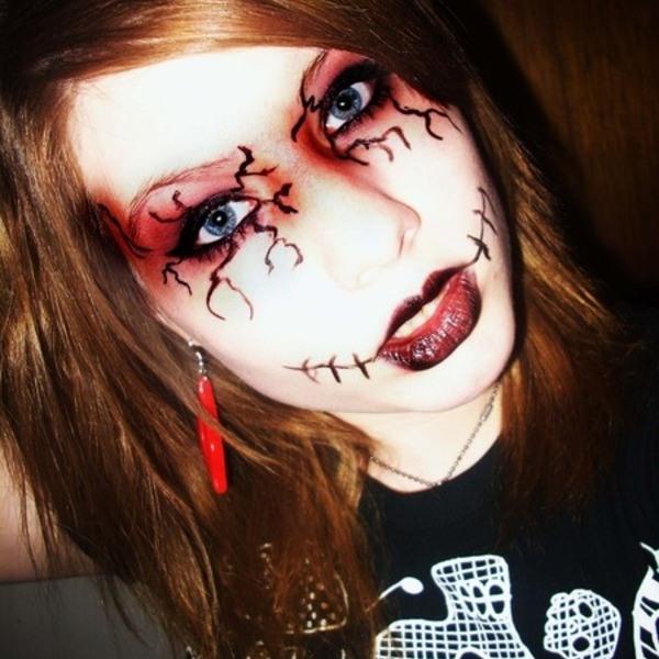 Грим на хэллоуин своими руками фото